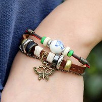 american flag butterfly - Charms Bracelets Steampunk Infinity Statement Leather Stainless Bracelets for Men Women Chip Fashion Jewelry with Butterfly Dangle B01536