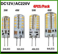 ac dc pack - Big Promotion pack SMD G4 W W W W LED Corn Crystal lamp light DC V AC V V Silicone Body LED Bulb Chandelier LED