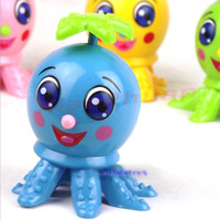 Wholesale B39Hot Sale Lovely Octopus Cartoon Animal Wind Up Clockwork Design Toys Funny For Children