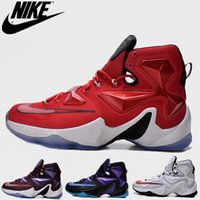 Wholesale Nike Basketball Shoes Mens LJ13 Retro New Athletic Trainers Footwear Discount Leather size fashion color J1