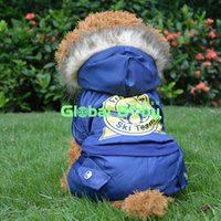 arctic ocean - New Arrival Arctic Ocean Skiing Coat for Pet Dog Warm Winter Thicken Dog Puppy Parkas Clothes