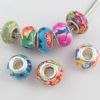 Round big clay - MIC mm Mixed Polymer Fimo Clay mm Big Hole Spacer Charm Beads Fit Bracelet IN Stock