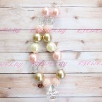 Wholesale Chunky Necklace Ivory Chunky Beaded Necklace Childrens Kids Necklace Photo Prop CB114