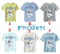 frozen tshirt - Cheap tshirt frozen t shirts Baby Girls And Boys Olaf Pattern T shirt Kids Summer Round Neck Short Sleeve T shirt Children Top T shirt tees