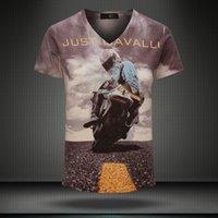 top brand - New summer vintage short sleeve v neck d printed t shirt men brand cotton mens t shirts fashion tops Men s Clothing