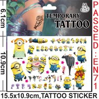 Wholesale Hot Sale Despicable Me Temporary Tattoo Stickers Minions Body Art Waterproof tattoo stickers for