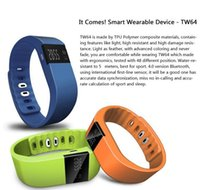 Wholesale Tw64 Waterproof Smart band Smart bracelet Wristband Fitness tracker Bluetooth fitbit flex Watch for ios android phone