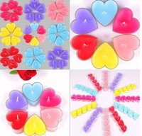 Wholesale 20pcs Heart Candle For Wedding Party Birthday Souvenirs Celebrations Colors