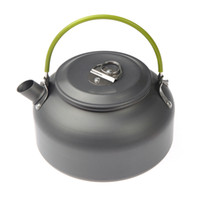 anodised aluminum - L Portable Ultra light Outdoor Hiking Camping Survival Water Kettle Teapot Coffee Pot Anodised Aluminum Drop shipping