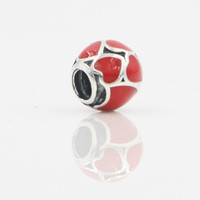 best quality jewelry stores - Authentic DIY Silver Jewelry Accessories Best Quality Red Enamel Heart Shape Silver Loose Charm In Lucky Sonny Store LB