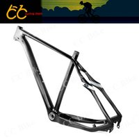 Wholesale Full cabon er MTB frame mm QR or mm axle though rear spacing of mountain bicycle frame CC CM T
