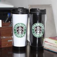 plastic bottles with lids - Starbucks Plastic double wall Bottles Mugs Flexible Coffee tea mugs Travel sports fashion Starbucks Water Bottles