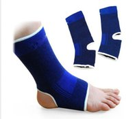 ankle guards - Ankle Foot Protector Support Elastic Brace Guard Sport Gym Sock Wrap Twin Pack Portable Knitted Sports Safety Sportswear