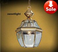 Wholesale Small copper chandelier American balcony chandeliers aisle lights porch chandeliers European single head brass lamps E27