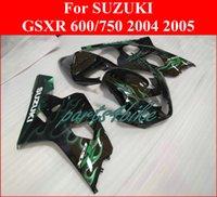 Precio de Suzuki gsxr750 fairing-Alta calidad Verde carenados de llama para Suzuki GSXR 600 kit de carenado 750 04 05 GSXR600 GSXR750 K4 2004 2005 NOFC