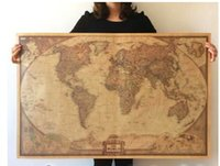 antique maps - Vintage World Map English Home Decoration Detailed Antique Poster Wall Chart Retro Paper Matte Kraft Paper Map