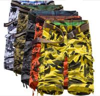 Wholesale New Brand Man Solid Cargo Shorts Summer Men s Casual Men Large Size Multi Pocket Short Jeans