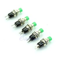 Cheap 5Pcs Green Momentary On Off Push Button Micro Switch New-PY