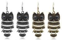 owl earrings - E001 Stylish retro Owl Earrings Korean Earrings Woman Luxurious Paragraph fashion