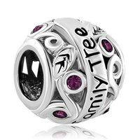 amethyst pandora bead - and Retail Amethyst Purple Birthstone Flower Filigree Family Tree Of Life Love Charm Bead Fit Pandora Charm Bracelet