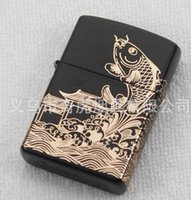 Cheap (Carp leaping) Kerosene lighter 5.9*3.8*1.3CM