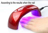 Wholesale sample promotion Mini Portable W LED CCFL Nail Dryer Curing Lamp Machine for UV Gel Nail Polish stock item Top quality