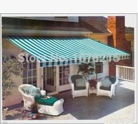 awning materials - Retractable Waterproof tent Aluminum awning The balcony folding canopy Sheds the rain materials M