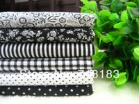 Wholesale x50cm Mixed Black Tilda Patchwork Cotton Fabric Home Textile Cloth Group for Tilda Cloth Crafts Handwork