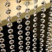 Wholesale Wedding DIY Decor Diamond Acrylic Crystal Beads Curtain Strand Garland Window Scarfs