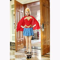 Wholesale The European And American Girls Temptation Star Wars Costume Sexy Superwoman Fancy Suit Without Shoes