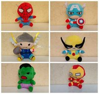american boy dolls - Newest Avengers Stuffed Animals Plush Toys Iron Man Spiderman American Captain Hawkeye Thor Hulk styles Doll For Children Boy Gift