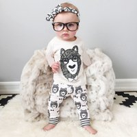 baby pants trade - 2016 autumn tights harem pants Kids clothing suits long sleeved baby Children s Outfits Set foreign trade small monster children cartoon