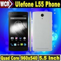 Cheap Ulefone L55 4G LTE Smartphone 5.5 inch 540x960 Screen MTK6582 Quad Core RAM 1GB ROM 8GB Dual Camera GPS WIFI Android 4.4 Mobile Cell Phones