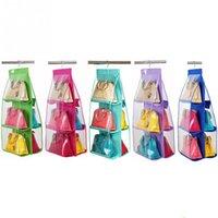 Wholesale New Practical Pocket Shelf Bags Purse Handbags Organizer Door Hanging Storage Bag Closet Hanger Colors