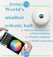 golf ball led - Smart intelligent robotic app control ball RC car with changeable led light motion sensing game golf football gravity game toy
