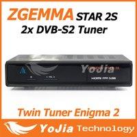 digital satellite receiver tv receiver - 1pc Original Zgemma Star S Digital Satellite Receiver with Two DVB S2 Tuner Enigma2 Linux System TV Receiver