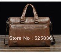 Wholesale Hot sale fashion genuine soft leather briefcase leather laptop bags for men men s big size shoulder bags business briefcase