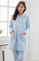 Wholesale Hot Winter Long Sleeve Thermal Maternity Nightgown Maternity Pajamas Sweatshirt Nursing Sleepwear