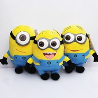 Wholesale Daily Deals inch D Eyes Minions toys High Quality Despicable Me Jorge Stewart Dave Plush Dolls with brand tags gifts for children