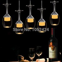 acrylic lamp shades - Modern Led Chandeliers cm Long Bar Lights LED Bar Wineglass Chandeliers Lamp Acrylic Shades Dining Room