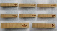 Wholesale Hot Fashions Wooden Tie Clip Dinosaur Bear Hippo Board Feather Bar Clips Men s Jewerly Gifts