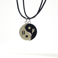 accessories forever - 2015 Fashion Accessories Ying Yang Tai Chi Magnet Letters BFF Best Friends Forever Couples Pendant Necklace Set PC Best Gifts for friend