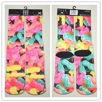 Wholesale hot cool socks colors Unisex odd sox socks harajuku socks d characters print Printed fashion Towel Bottom skateboard happy socks