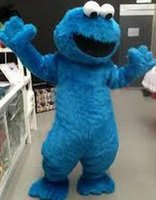 Wholesale Sesame Street Blue Cookie Monster mascot costume Cheap Elmo Mascot Adult Character Costume Fancy Dress