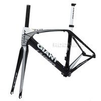 Wholesale 2013 GIANT TCR Composite T Carbon Original C Road Bike Bicycle Parts Fork Frame Set Size S mm Black White