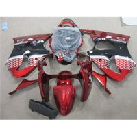 Para Kawasaki Motos Fairing Body Kit Ano 2000 2001 2002 00 01 02 ZX6R 636 Motorbike Carenagem Black Red Ninja Corrida Carroçaria Glossy