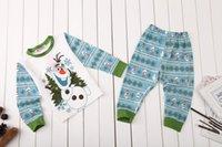 pajamas for children - Frozen olaf Christmas pajamas for children kids clothing baby clothes baby boy fashion S191