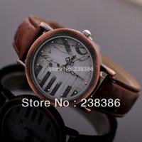 auto key tags - TGJW438 Vine Watch Dress Watches High Quality Women Clock Piano Key Watch Face PU Leather Strap Ladies Wristwatch