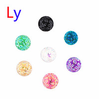 acrylic cameos - flower Cameo Multicolor hybrid Ginger Snap Buttons For noosa bracelet Snap Button Jewellery mm AC042