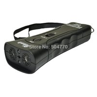 Wholesale Double Heads Ultrasonic Dog Repeller Chaser and Dog Training with LED Light Laser in
